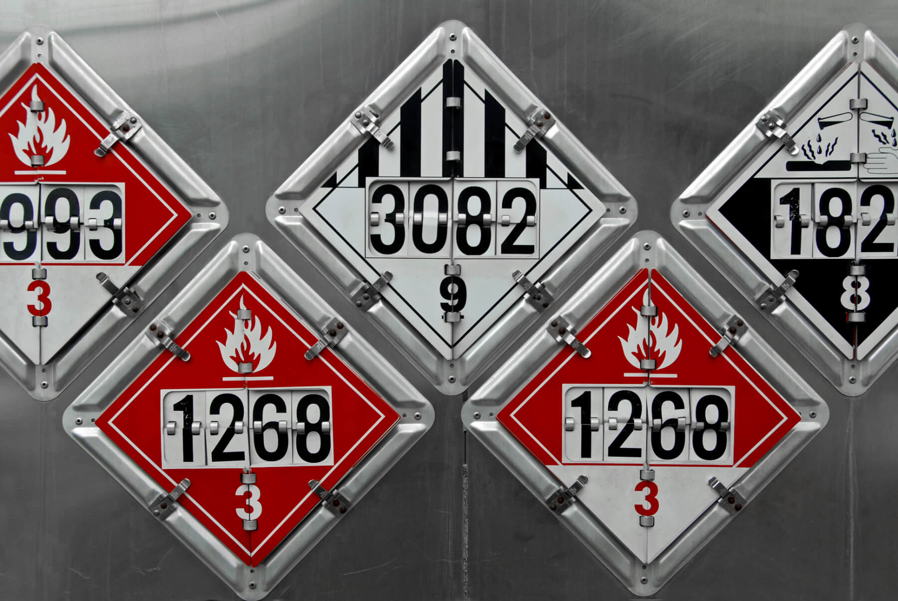 hazmat signs on truck