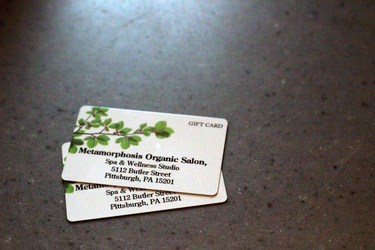 Gift cards at Metamorphosis