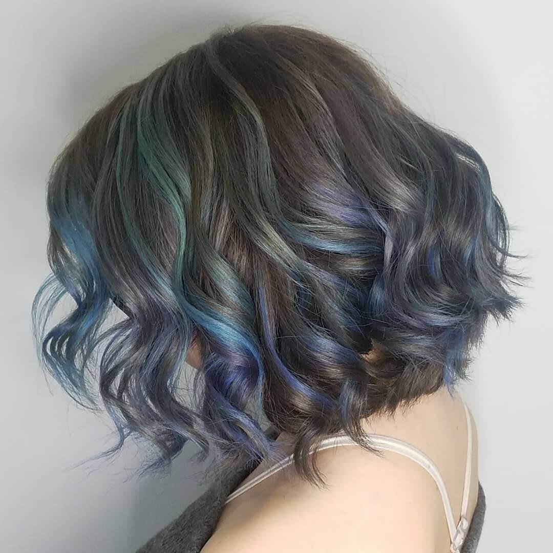 green blue and purple hair by metamorphosis