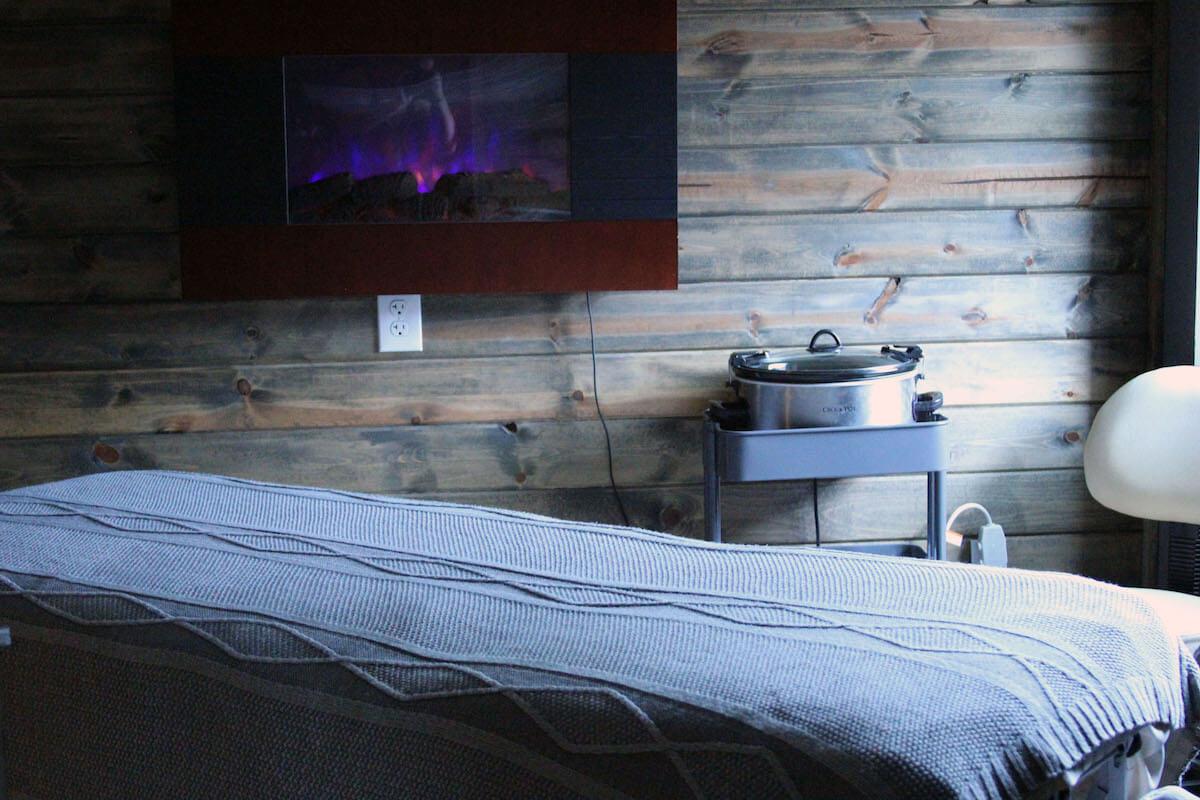 Photo of massage table