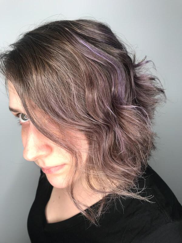 Purple highlights by metamorphosis
