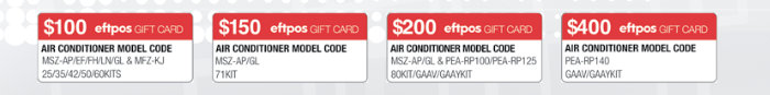 Eligible air conditioner models