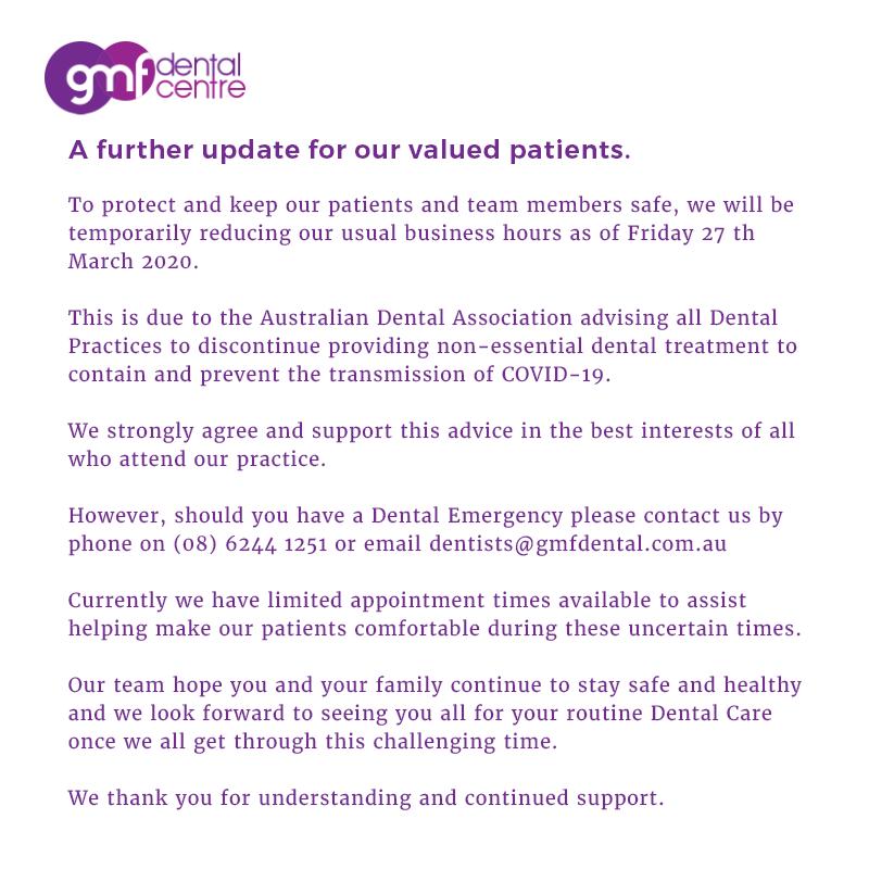 COVID Safe GMF Dental