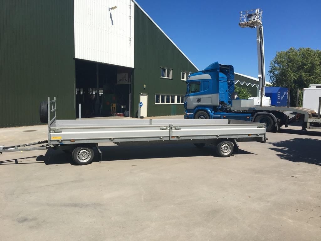 Aanhangwagen Schamel 600x200cm 2700kg.