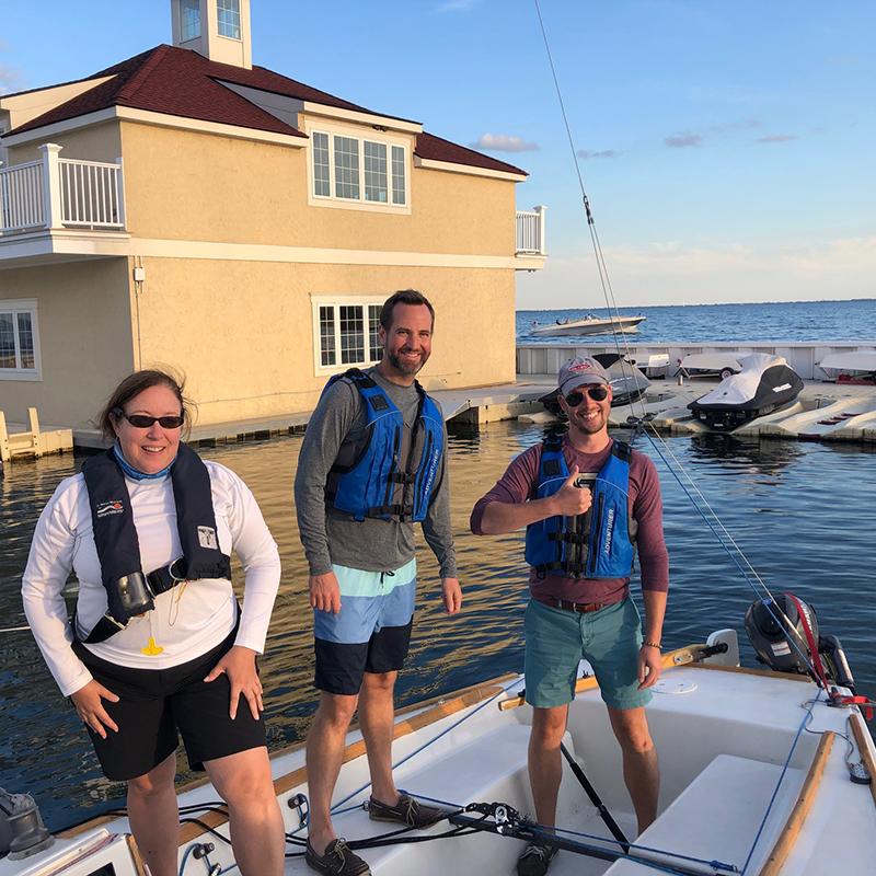 Students at GPYC Adult Sailing Program
