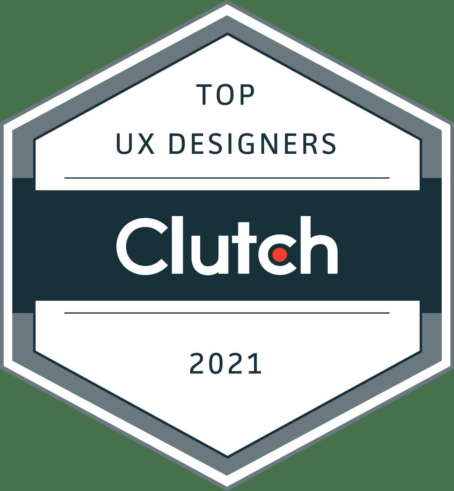 Clutch award for top UX design agencies, 2021