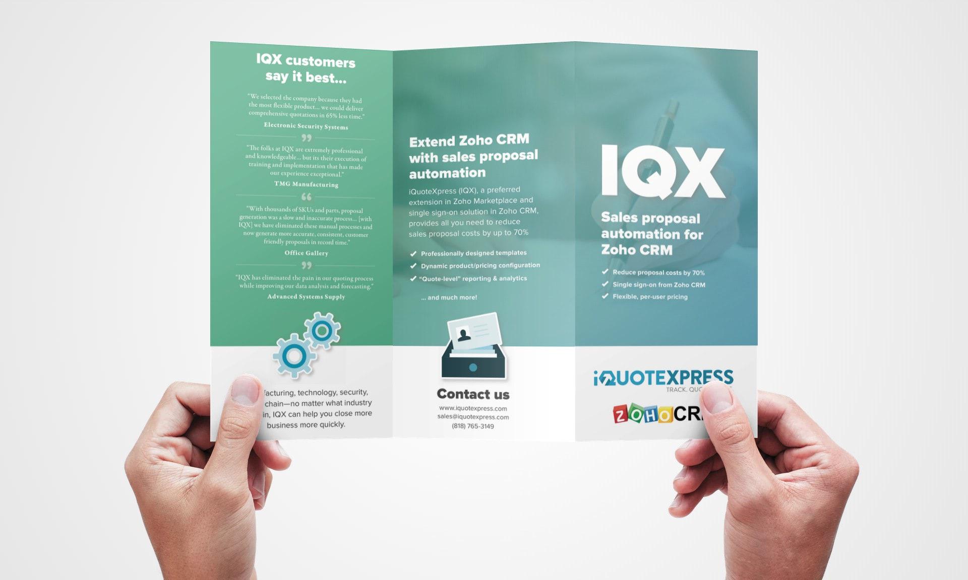 IQX brochure outside