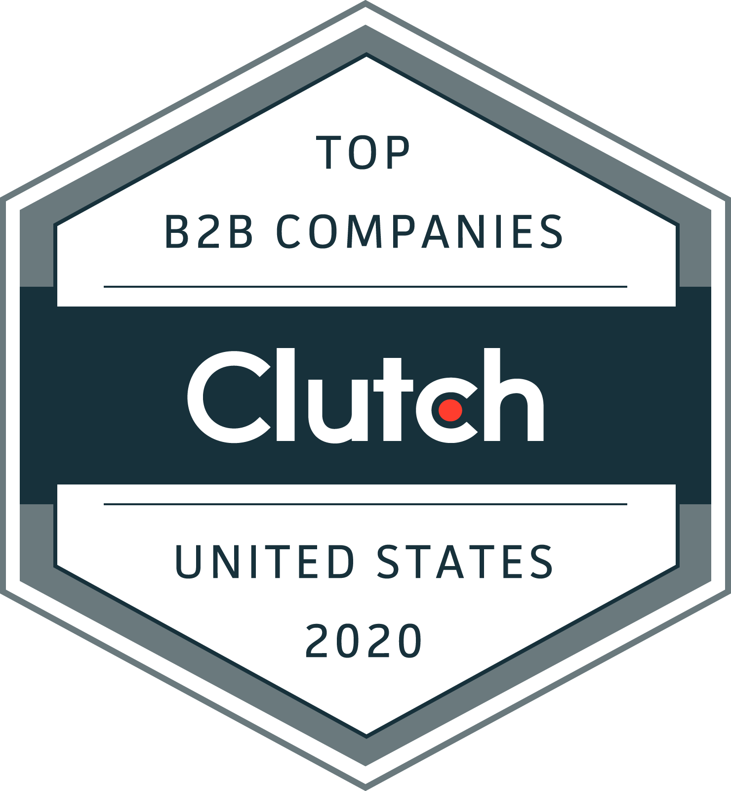 "Clutch.co ""Top B2B Companies United States 2020"" logo"