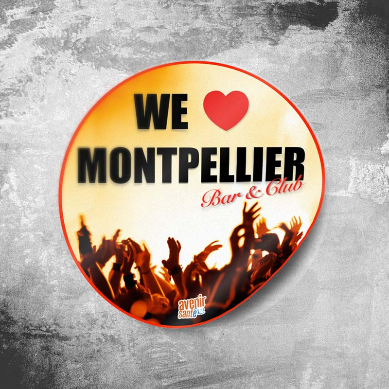 Autocollant : We love Montpellier