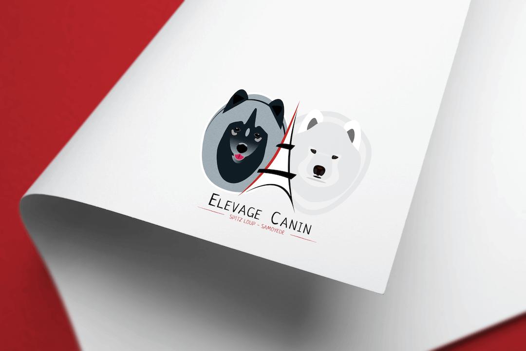 Logo pour un élevage canin de Spitz loup et Samoyède