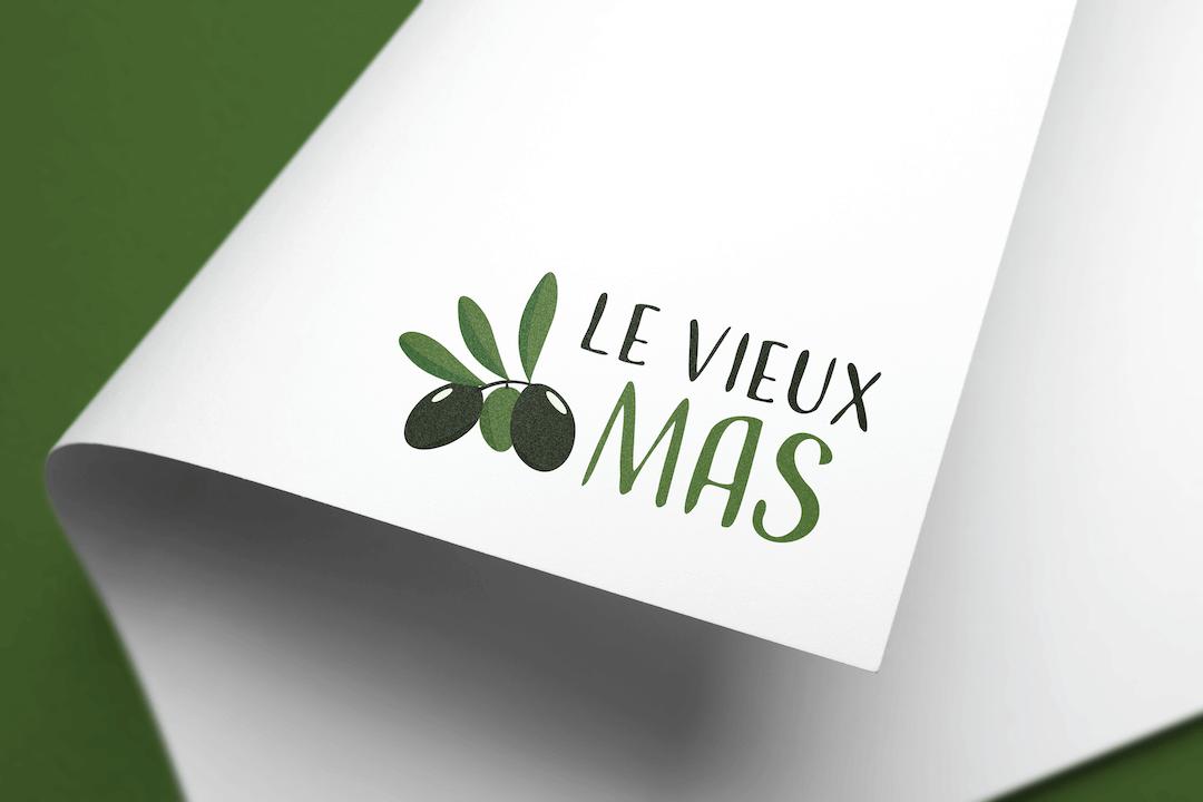 Création d'un logotype pour Le Vieux Mas