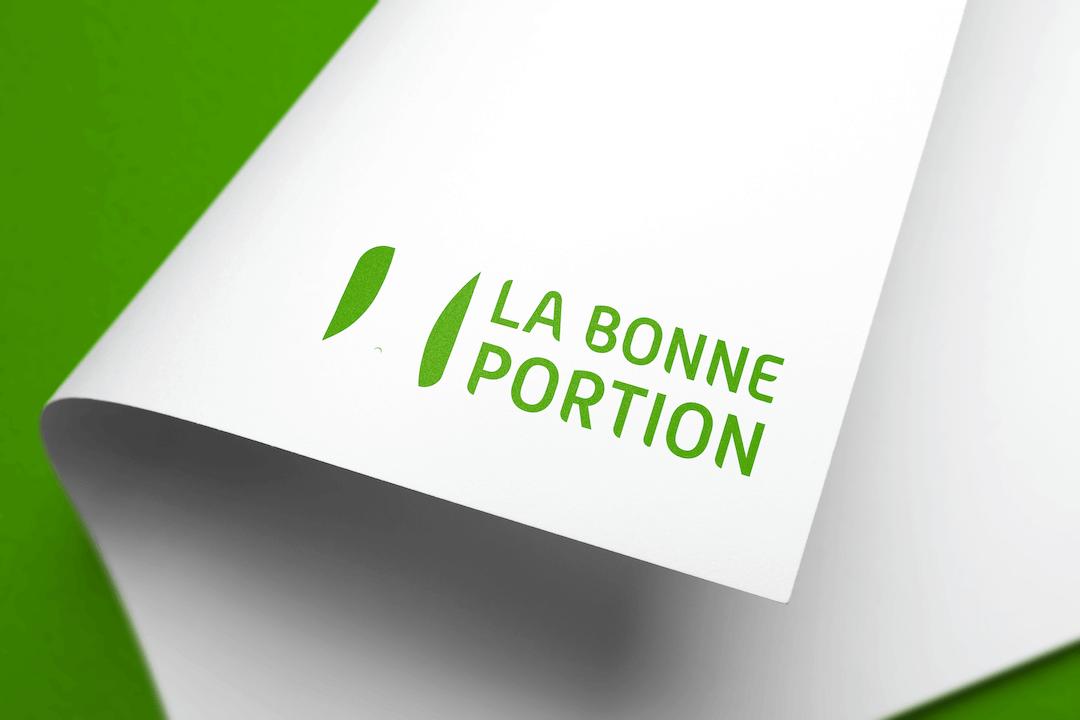 Création d'un logotype pour La bonne portion