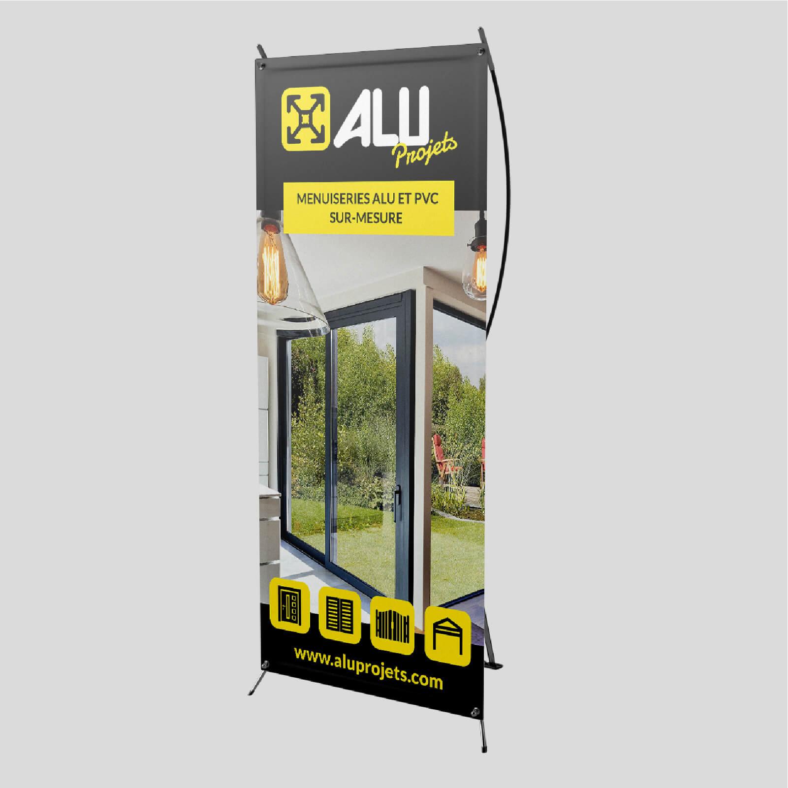 Création d'un X-banner pour Alu Projets