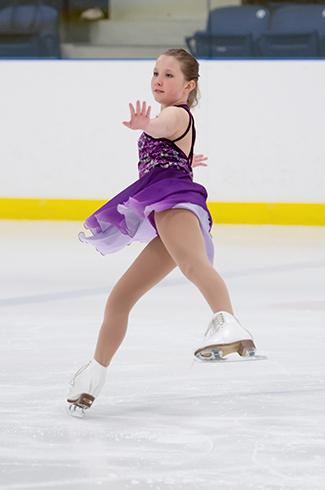 Image of a girl figure skating
