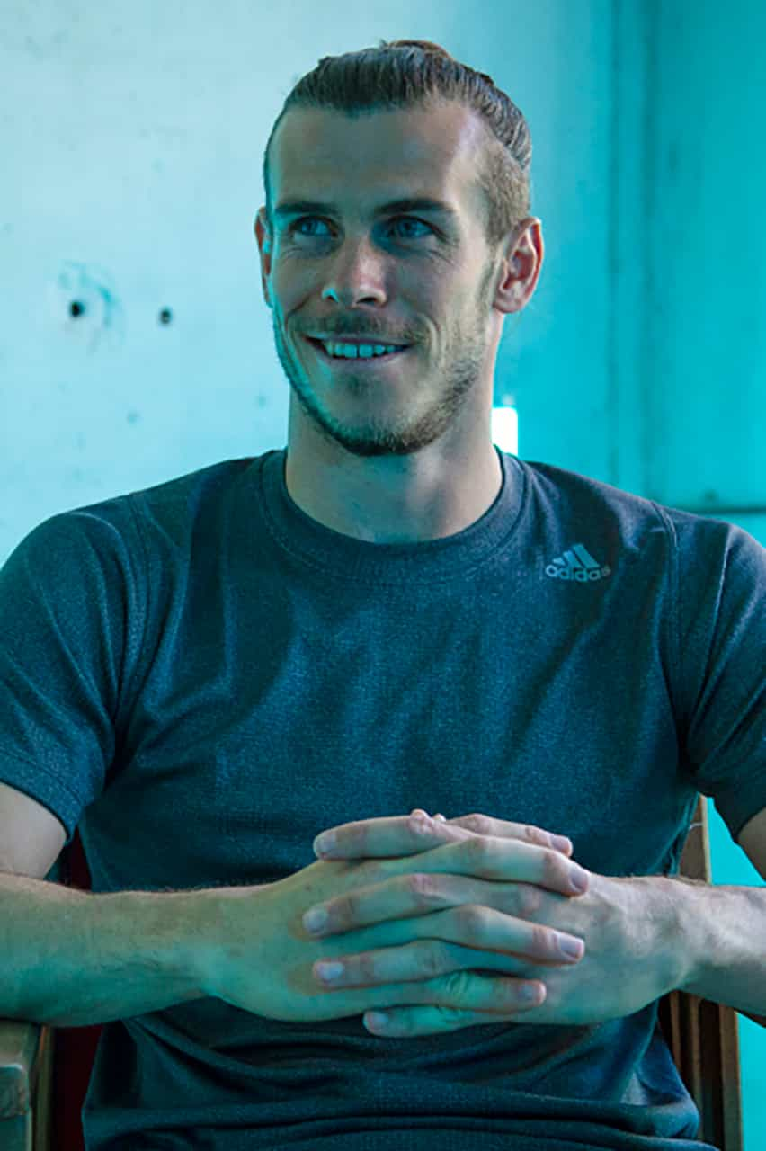 Gareth Bale footballer uses the Natural Barber Co. hair products