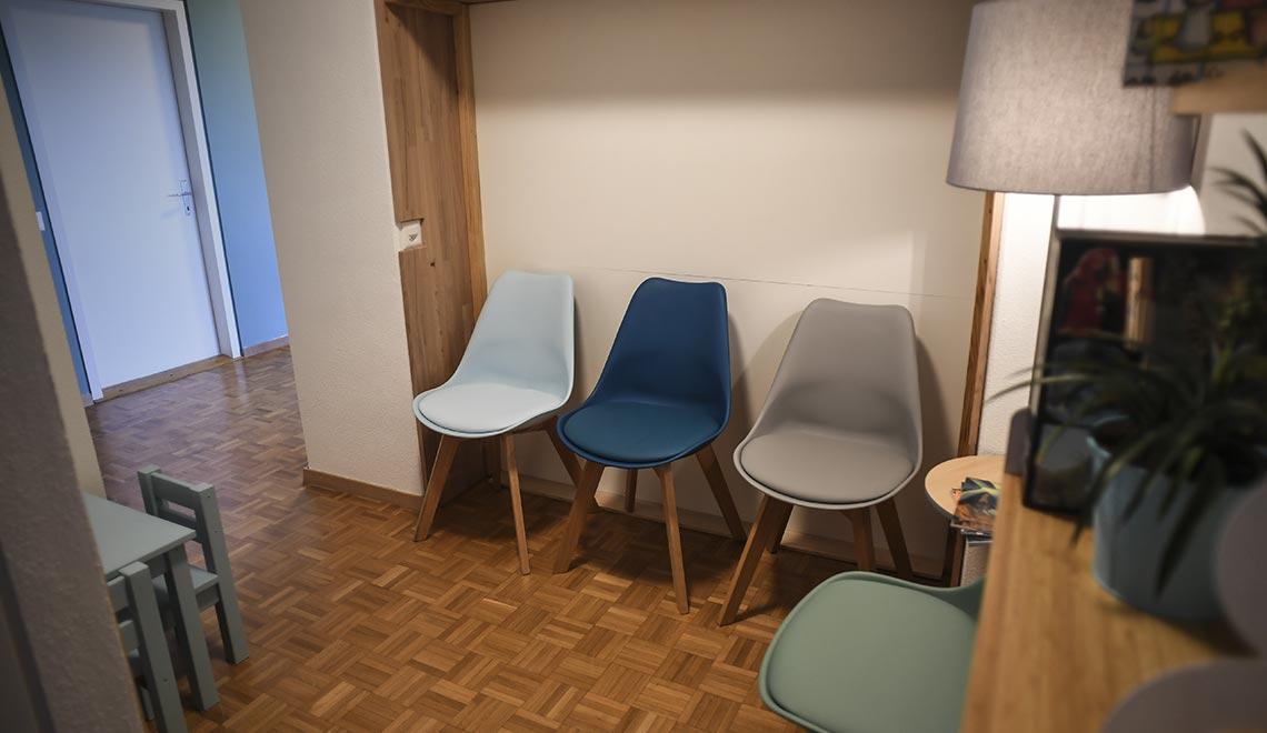 salle d'attente du cabinet pédiatrique de nyon
