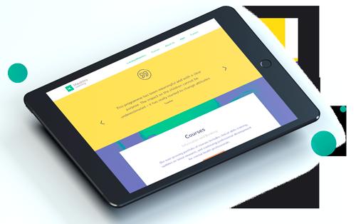 ipad showing website