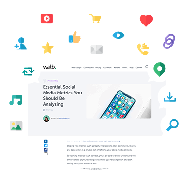 website with social icons