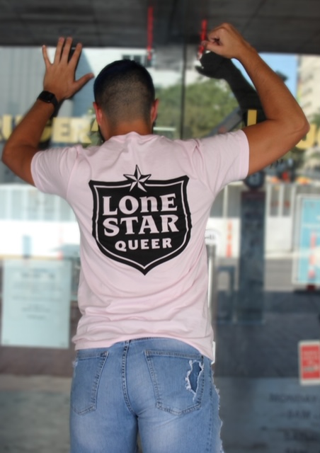 Lone Star Queer T-Shirt Pink w/Black