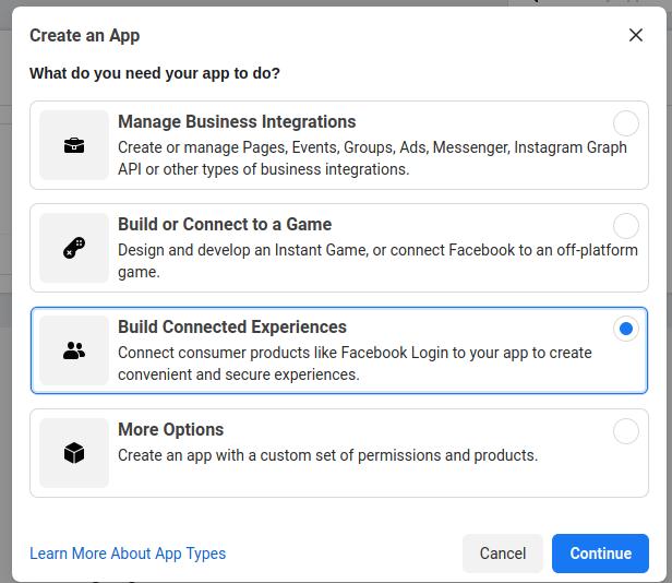 facebook-create-app