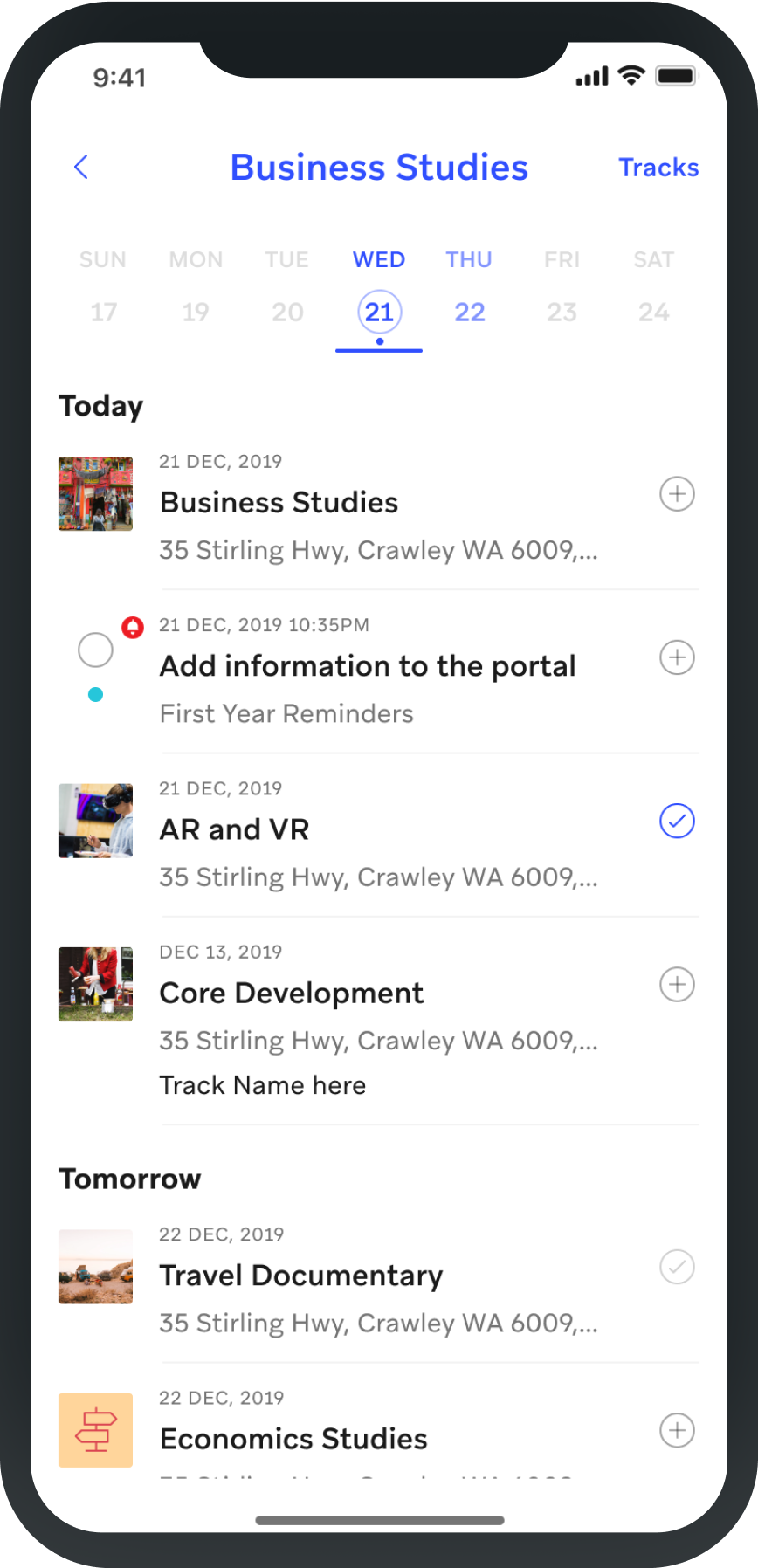 screenshot of students orientation feature of Involvio