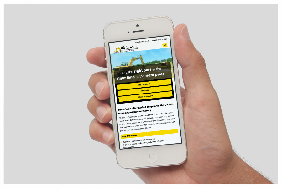 Photo of ITS Trac mobile website designed by Connect Creative Design
