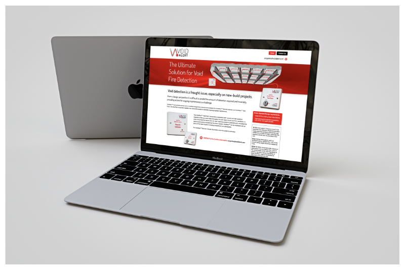 Photo of VoidAlert responsive website by Connect Creative Design in Barnsley