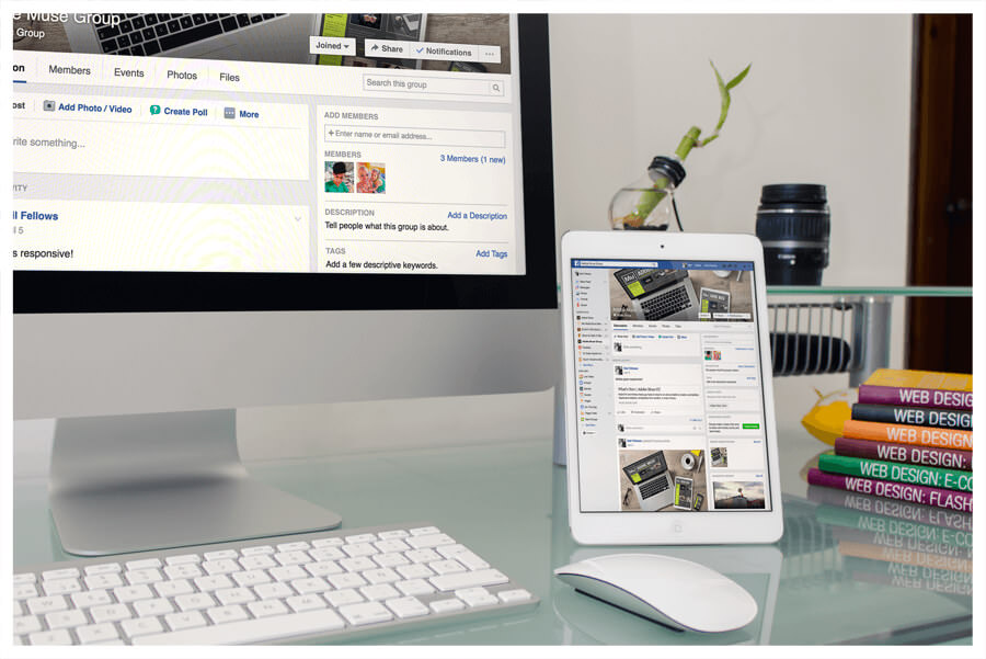 Photo of social media pages by Connect Creative Design in Barnsley