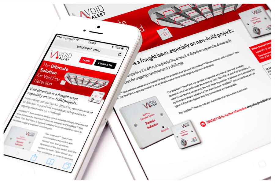Photo of VoidAlert website, designed by Connect Creative Design