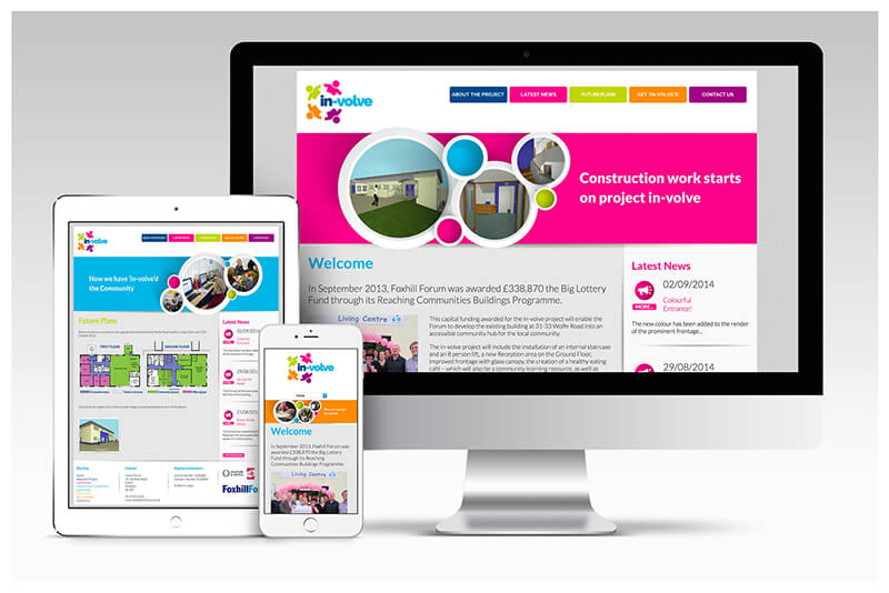 Photo of In-Volve website by Connect Creative Design in Barnsley