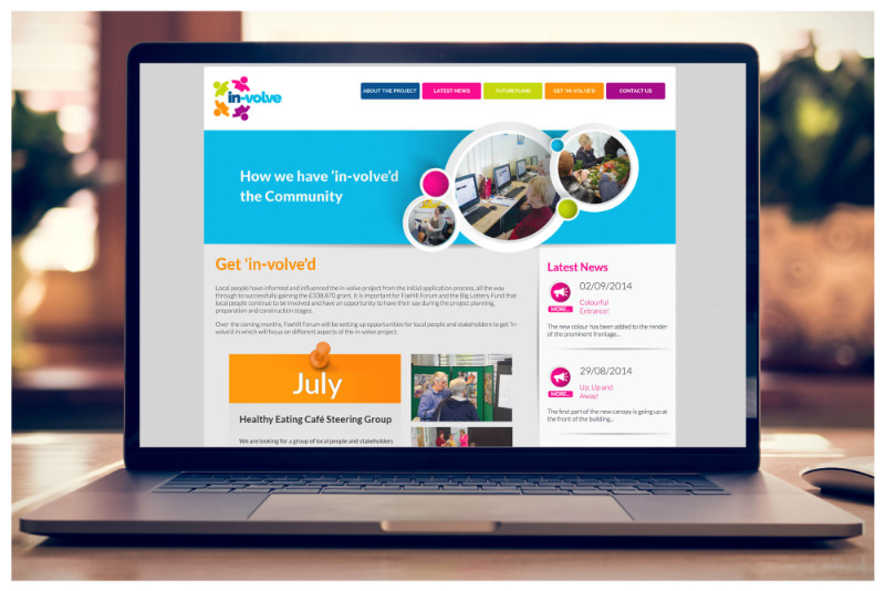 Photo of In-Volve responsive website by Connect Creative Design in Barnsley