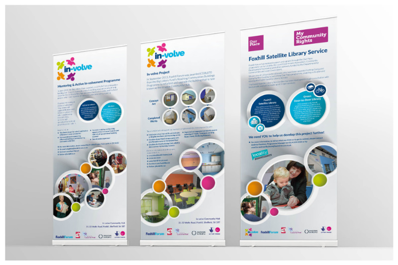 Photo of some pull up roller banner stands Barnsley designed by Connect Creative Design