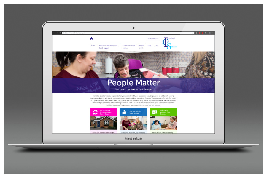 Individual Care Services website Warwickshire