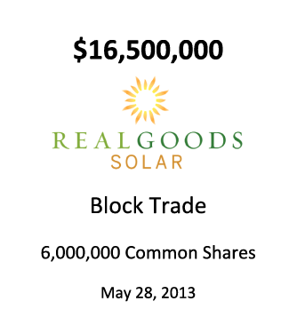 Real Goods Solar Inc.