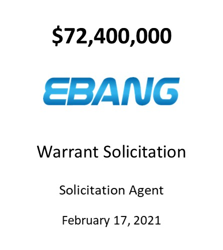 Ebang International Holdings, Inc.