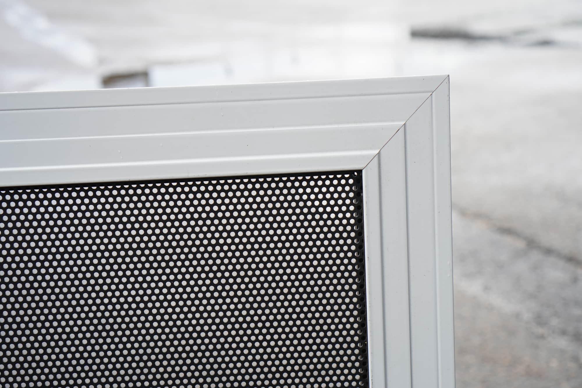 Perforated aluminium screen door Geraldton