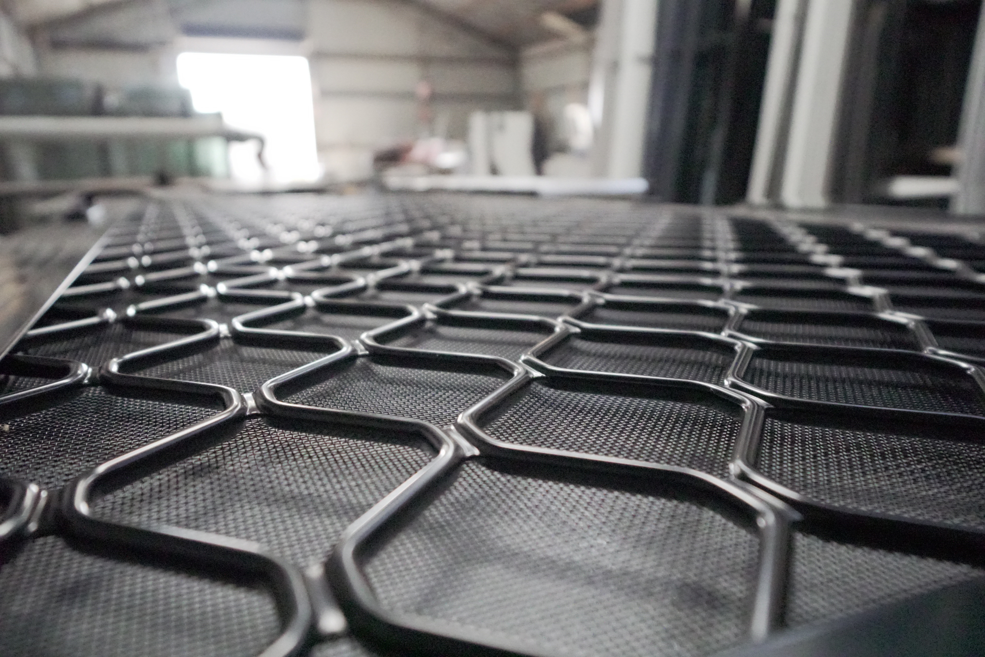 Aluminium diamond grill security door at S & J Glass Geraldton