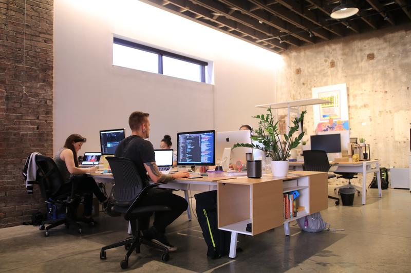 product development team working