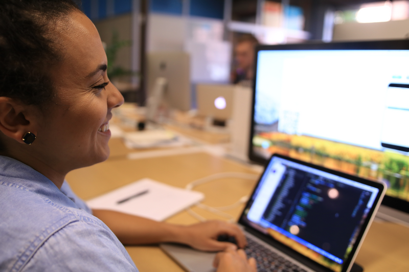 product developer smiling