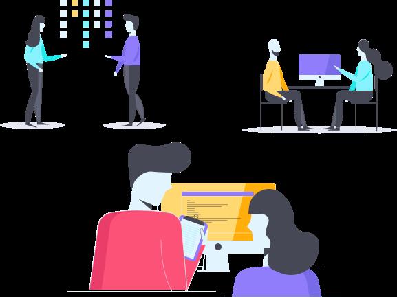 product development team illustration