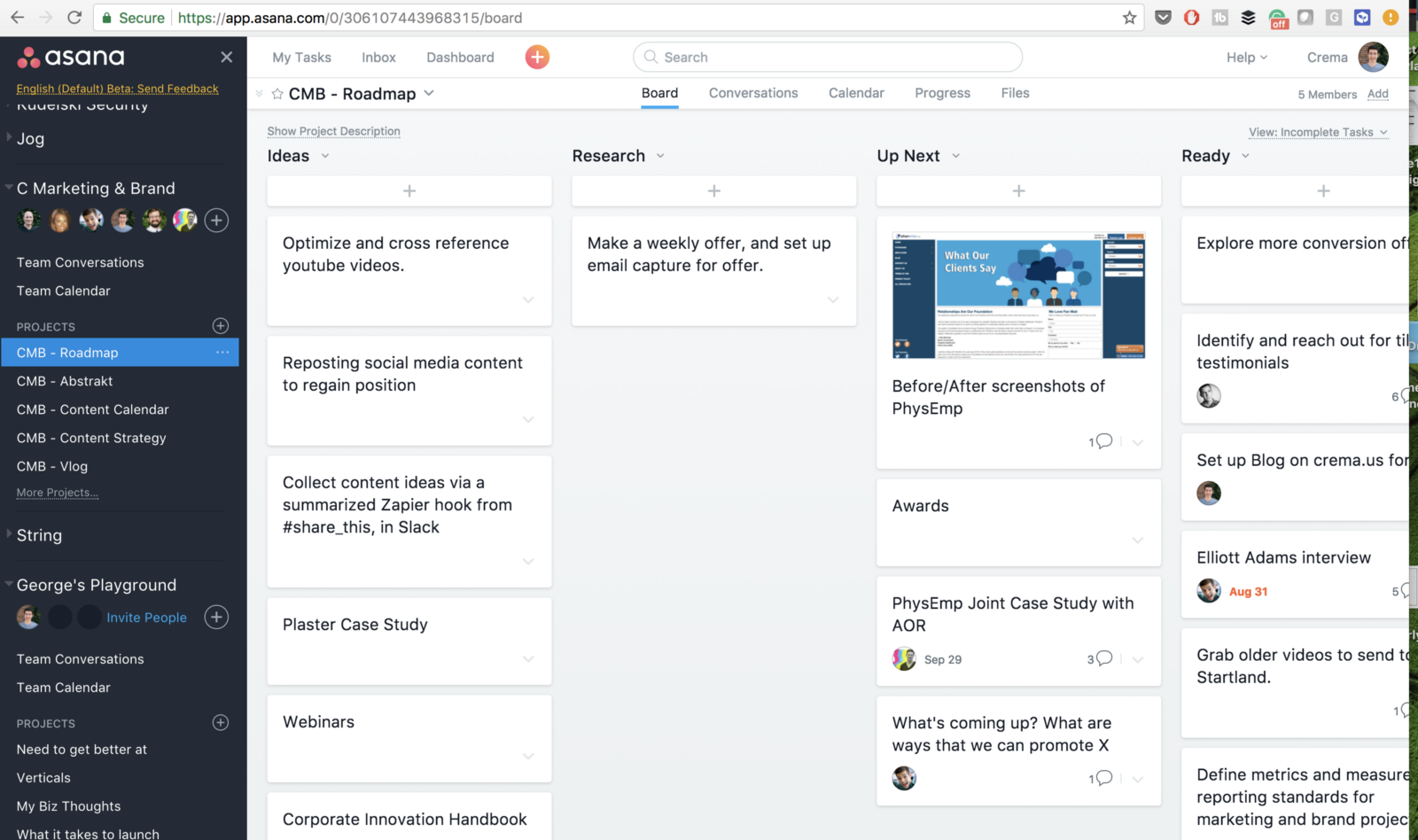 Asana Product Management Tool