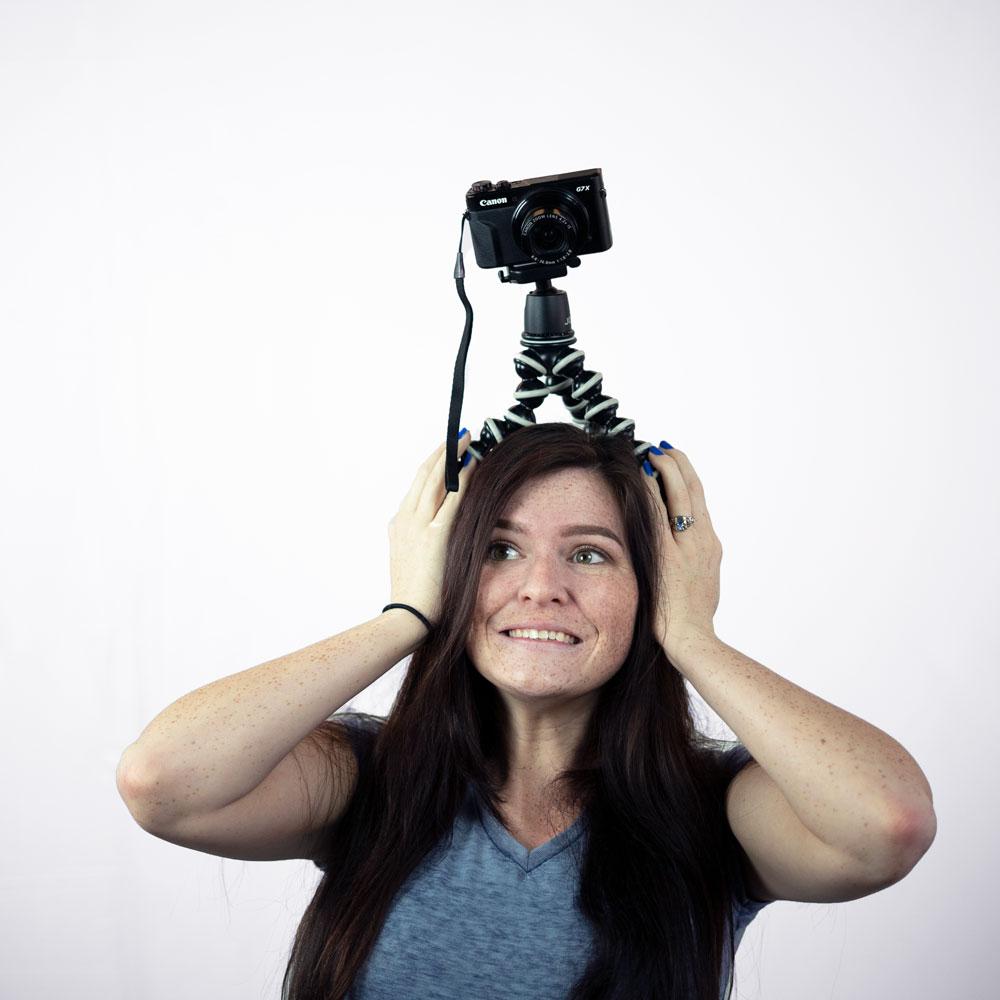 Larissa with video gear