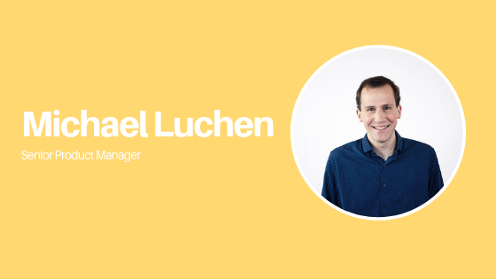 product manager michael on yellow background