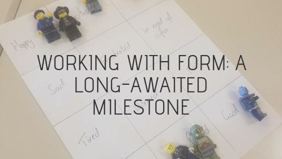 lego mini figures on mood board paper