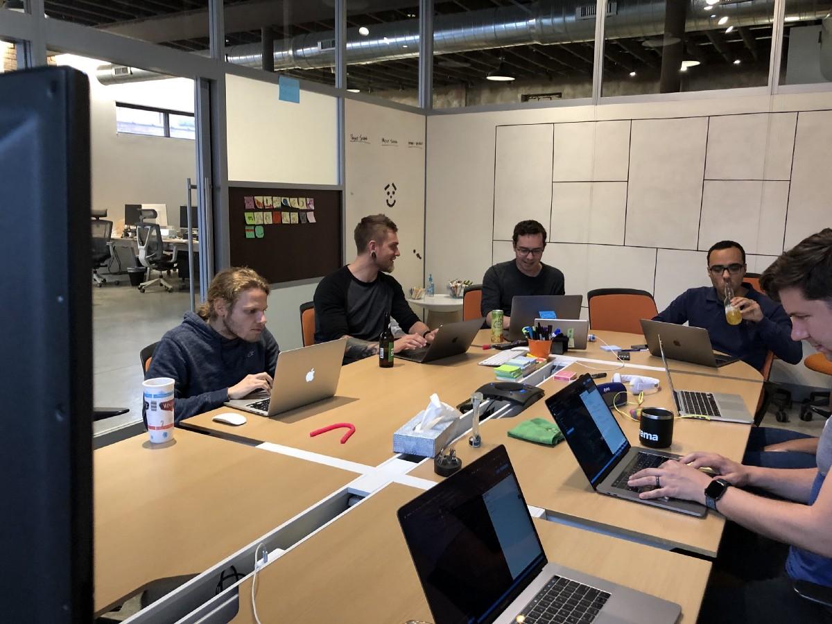 Crema devs working through a code sandbox for React Hooks
