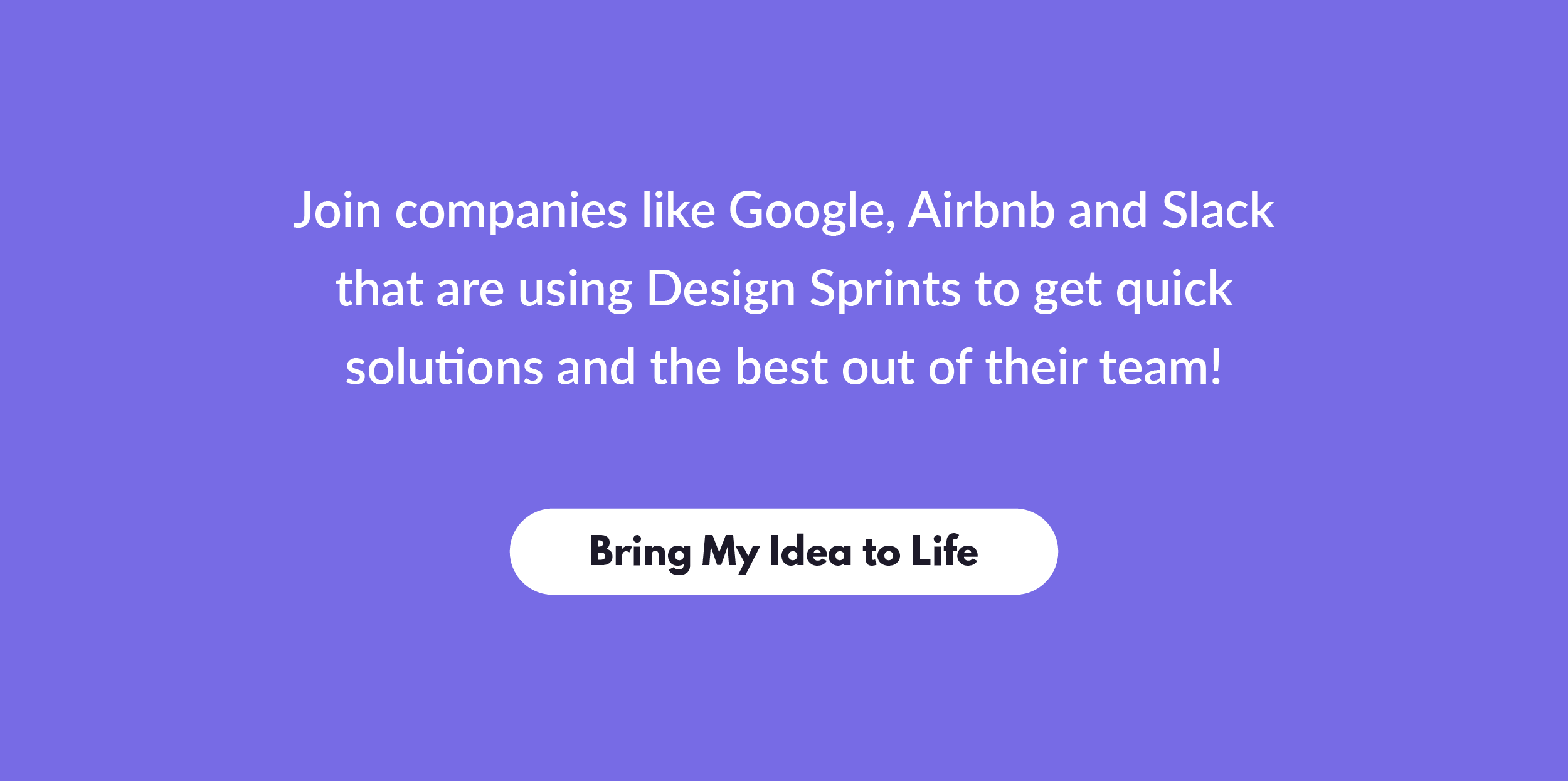 call to action button for design sprints