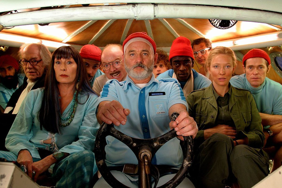 people in airplane wes anderson movie