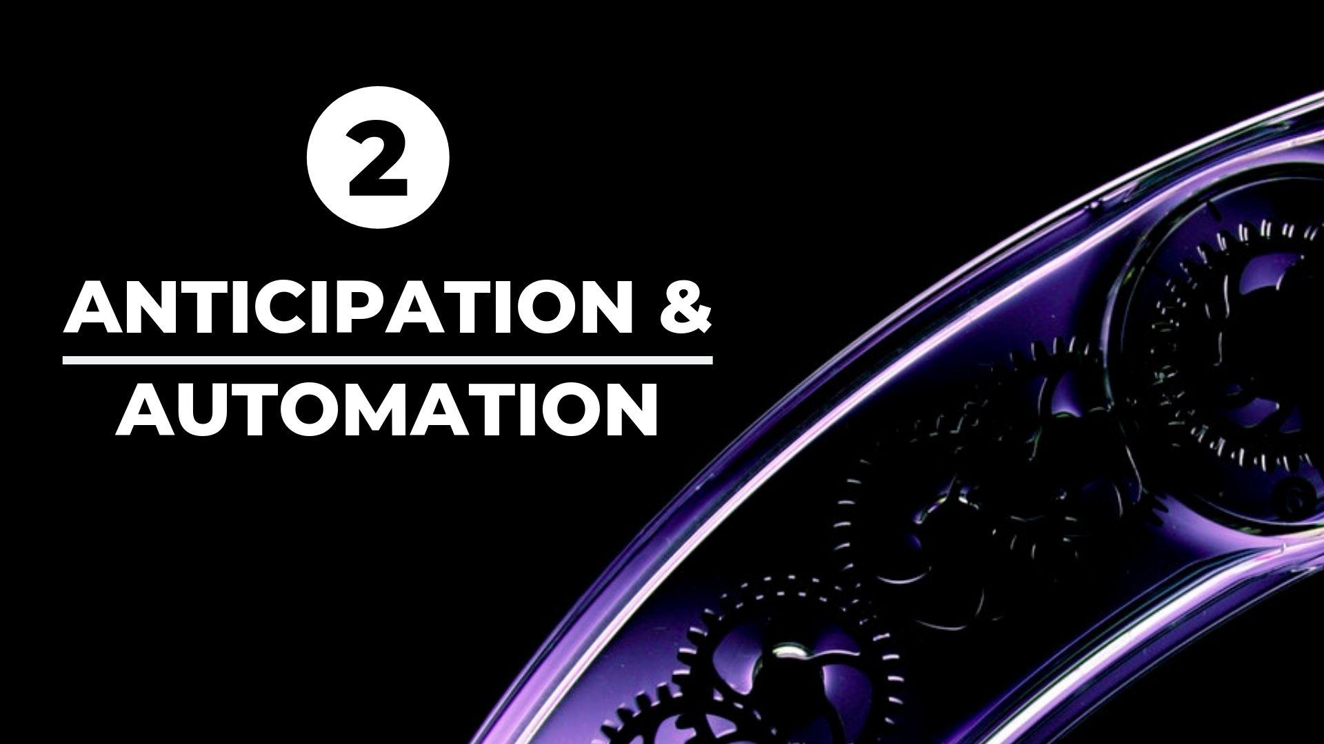Anticipation & Automation