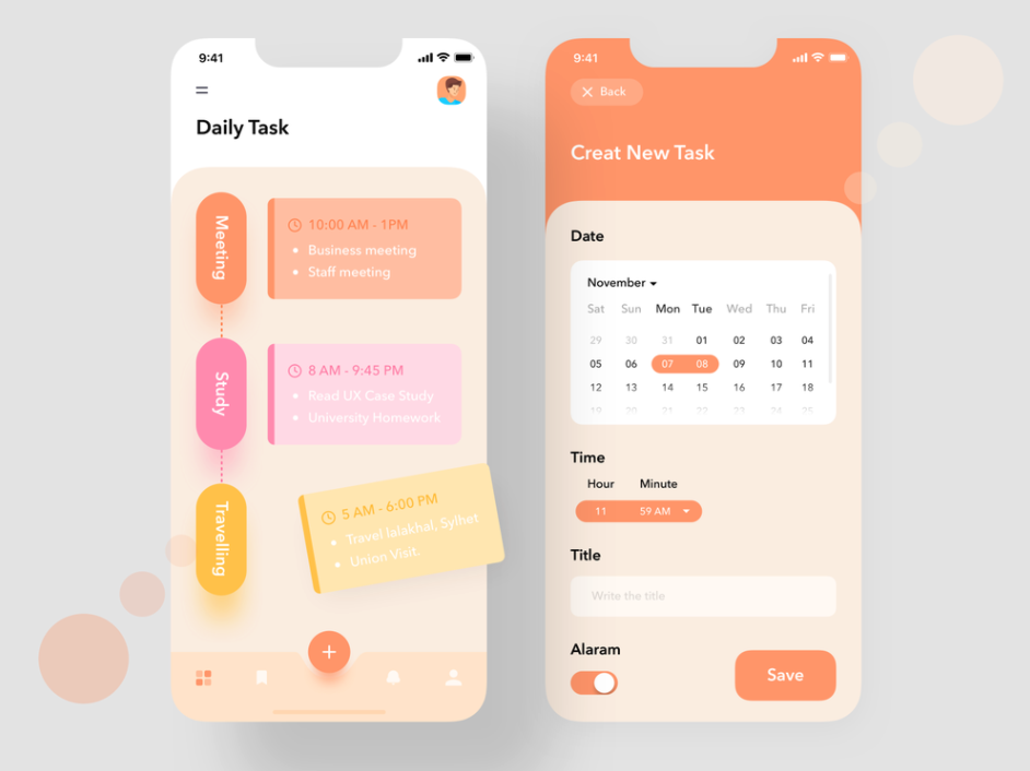 Example of Typography in UI