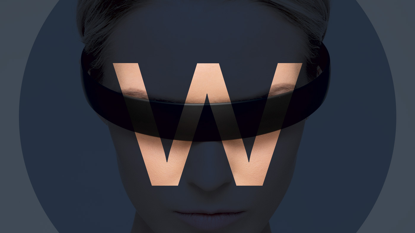 The Watb logo wrapped around a persons eyes